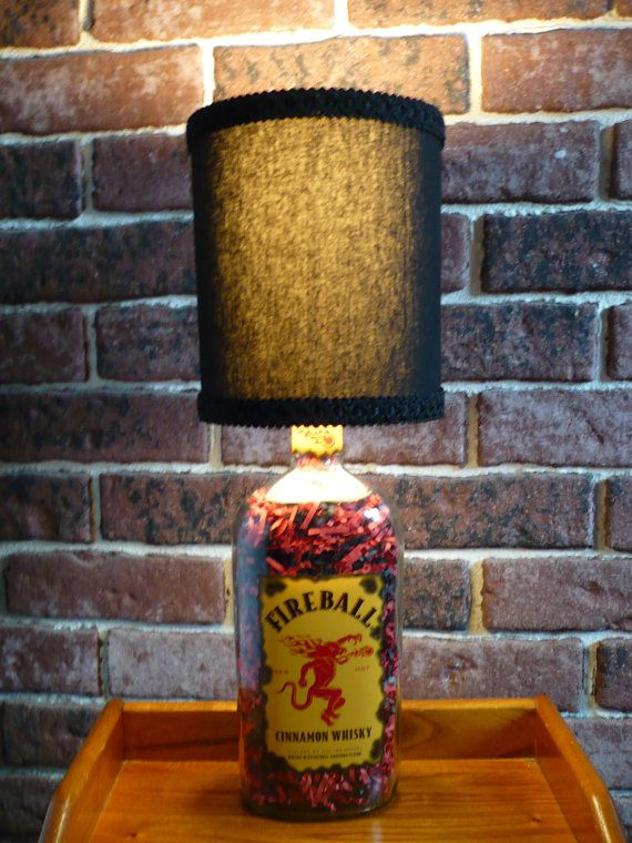 fireball Liquor Bottle Lamp with handcrafted by hystreasures, $29.99