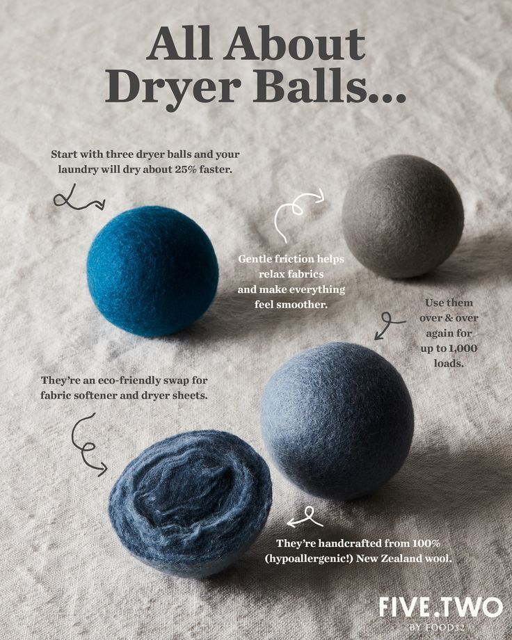 Photo of Five Two Wool Dryer Balls from Food52's Product Line #Balls #Dryer #Food52s #Lin…