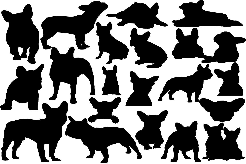 French Bulldog Svg Silhouette Graphic Illustration Dog