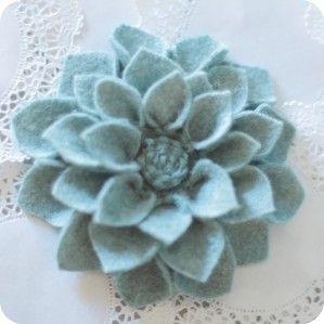 fleurs feutrine tuto   yoyo   pinterest   feutrine, tuto et dahlia