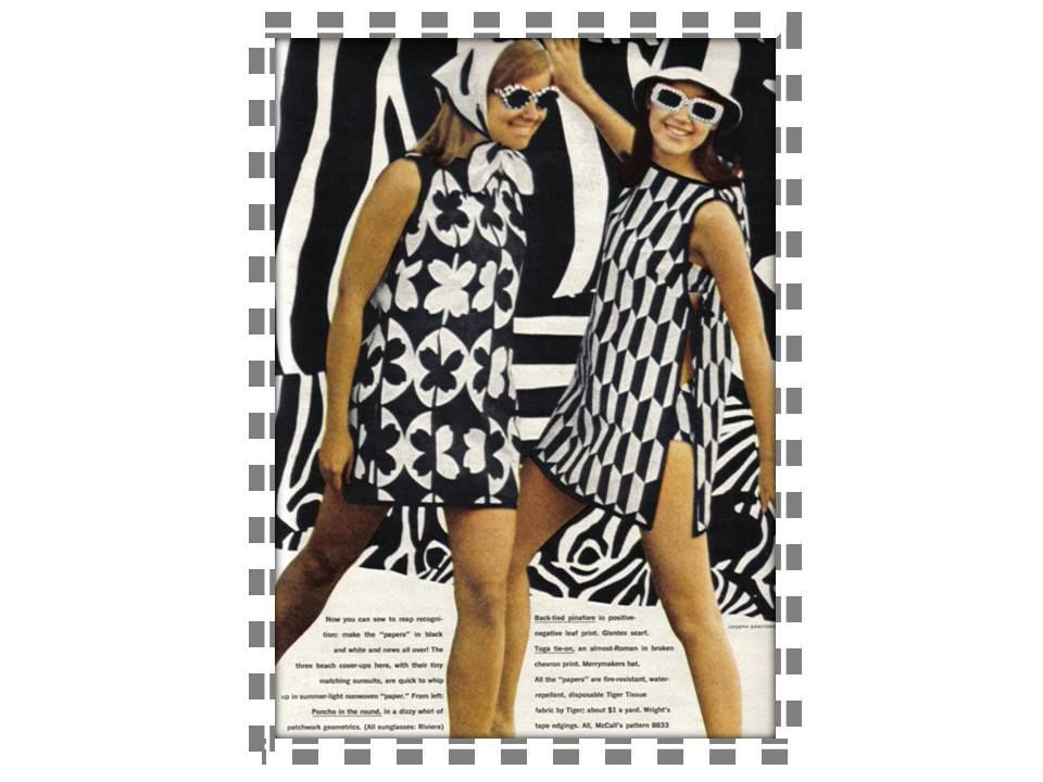 Awesome mod paper dresses.  <3