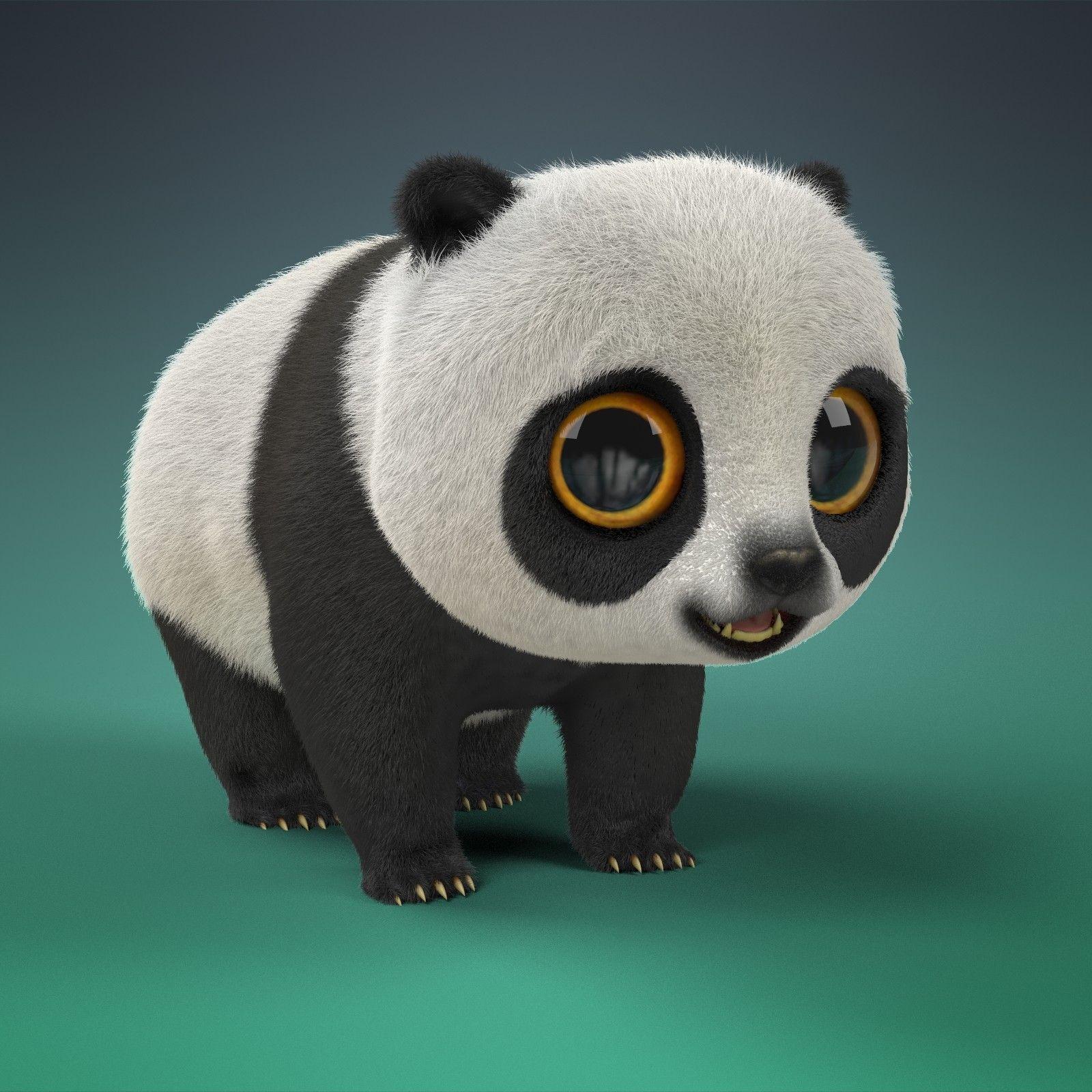 ArtStation Cartoon Panda, Hanna Shmakova