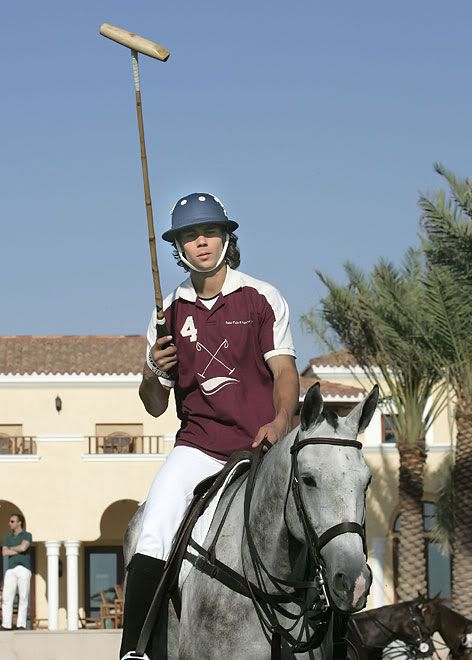 Rafa on a horse. How much more could a girl ask?