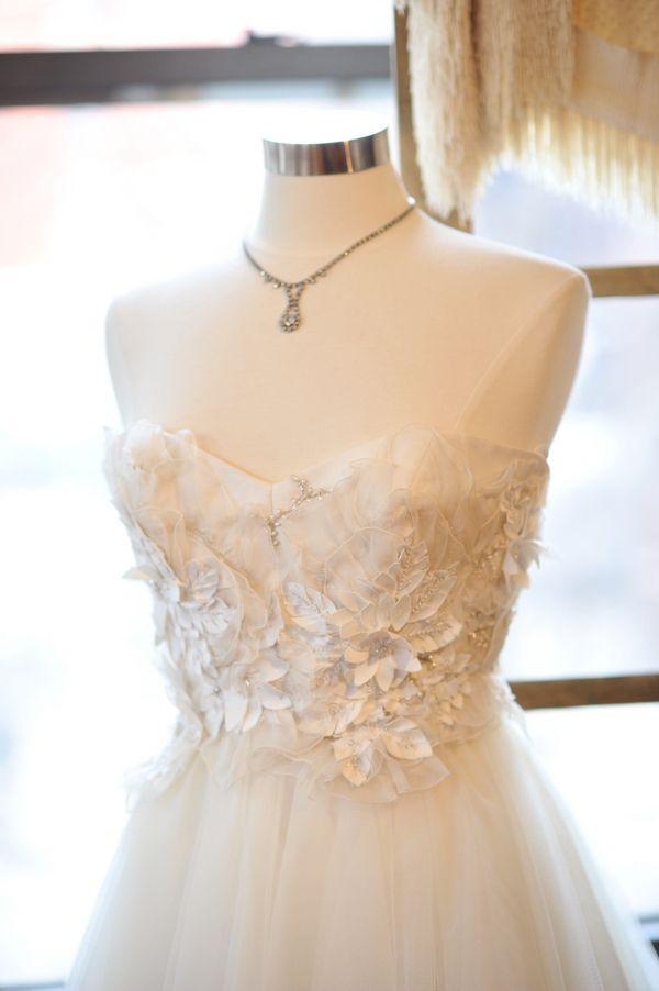 Floral Bridal Gown at Gabriella Bridal Salon New York   Vows ...