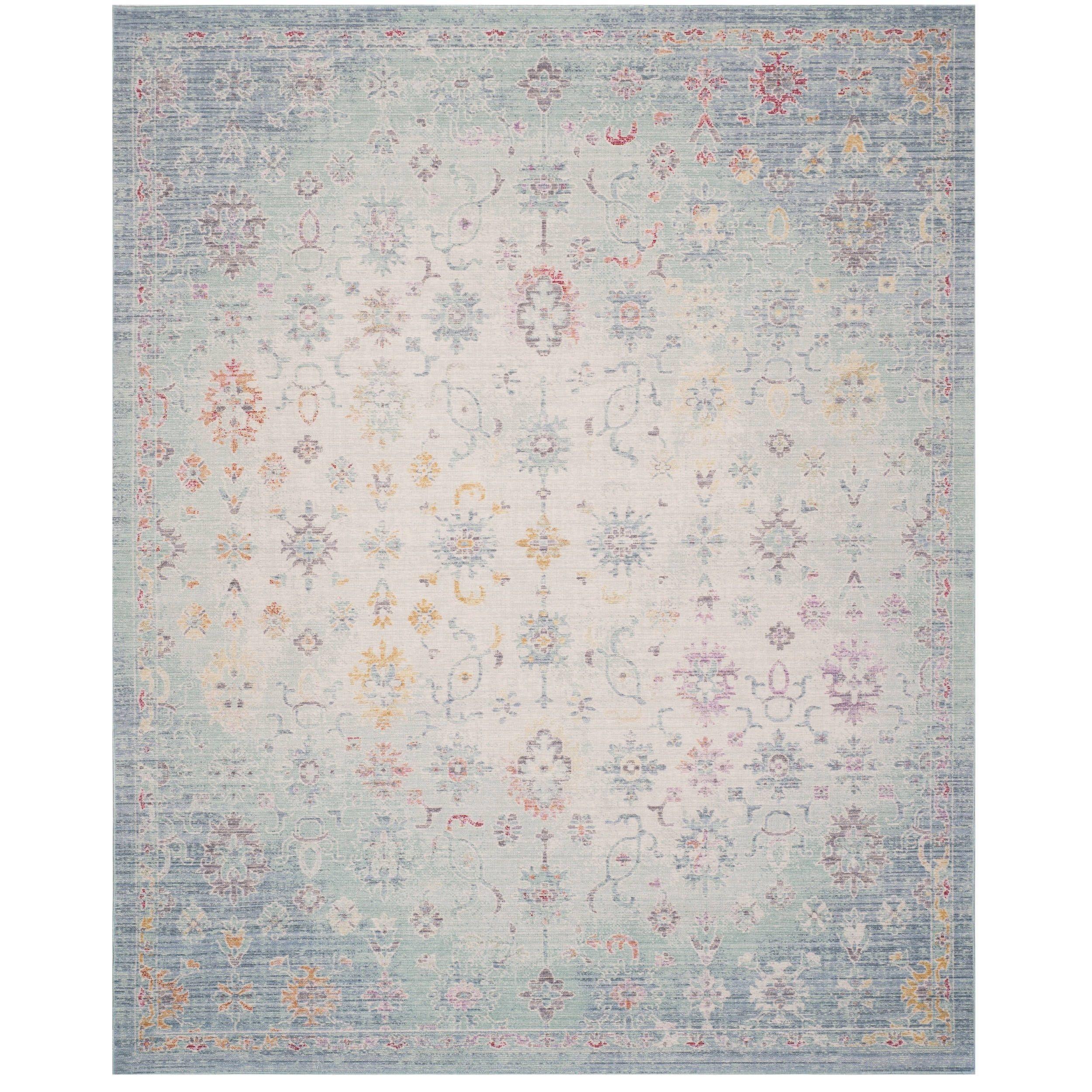 Safavieh Windsor Romita Shabby Chic Oriental Polyester Rug Blue