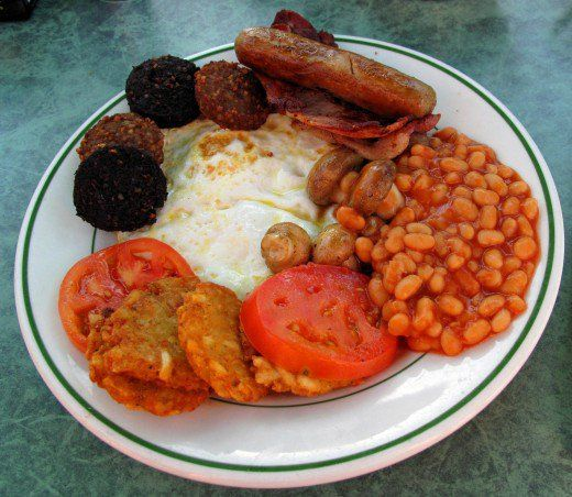 This basic English Breakfast is a wonderful meal, but, it is not what a Diabetic should eat.