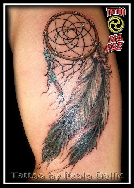 Apanhador (filtro) de sonhos Tattoo by Pablo Dellic by Pablo Dellic , via…