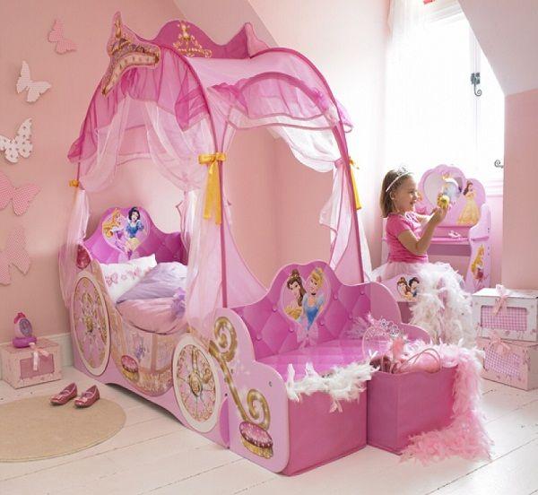 Disney Princess Canopy Bed For Little Girls Princess Carriage Bed Toddler Canopy Bed Disney Princess Bedroom