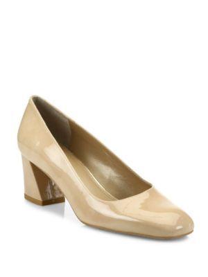 STUART WEITZMAN Marymid Patent Leather Pumps. #stuartweitzman #shoes #pumps