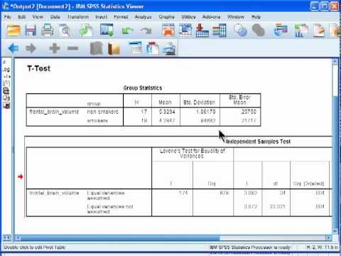 Independent TTest  Spss Example   Statistics Research