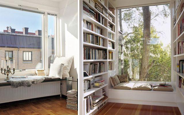 Diferentes formas de decorar el rincón de lectura de una casa - rincon de lectura