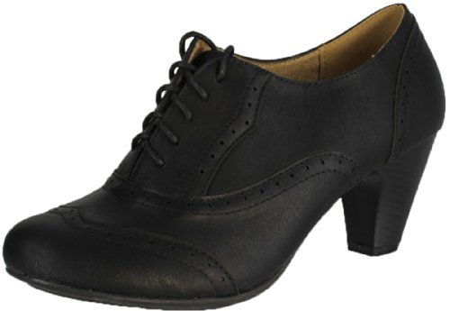 Women's Cuban Heel Ankle Booties Oxfords REFRESH A
