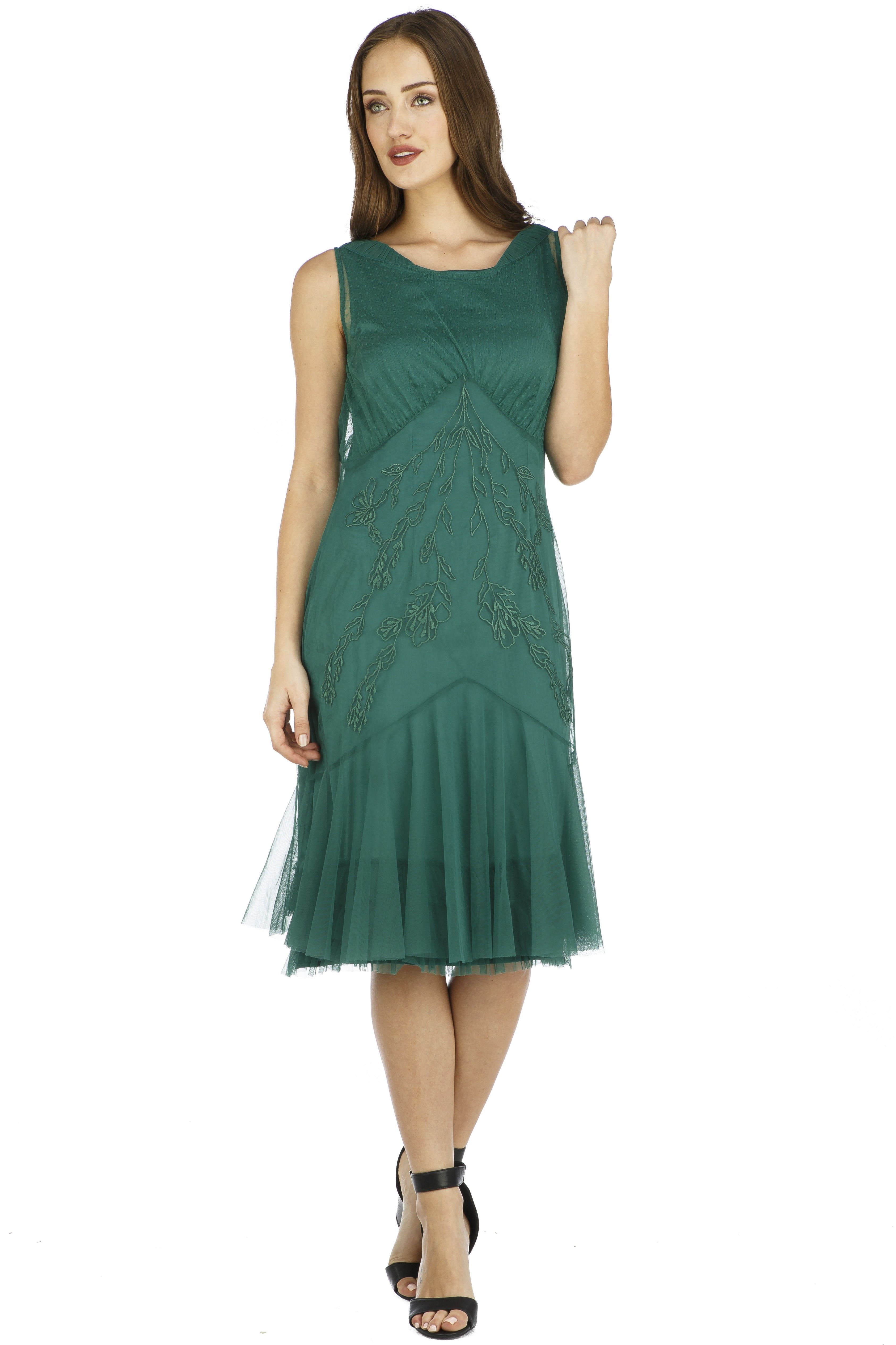 Tatianna Vintage Style Party Dress in Green by Nataya | Groom dress ...