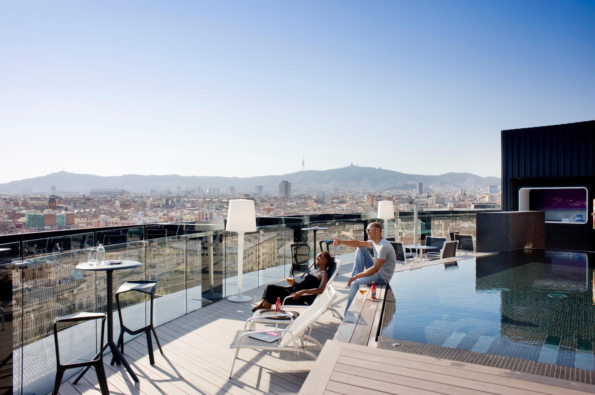 Terraza Hotel Barcelo Raval Barcelona Hotels Best Rooftop Bars Rooftop