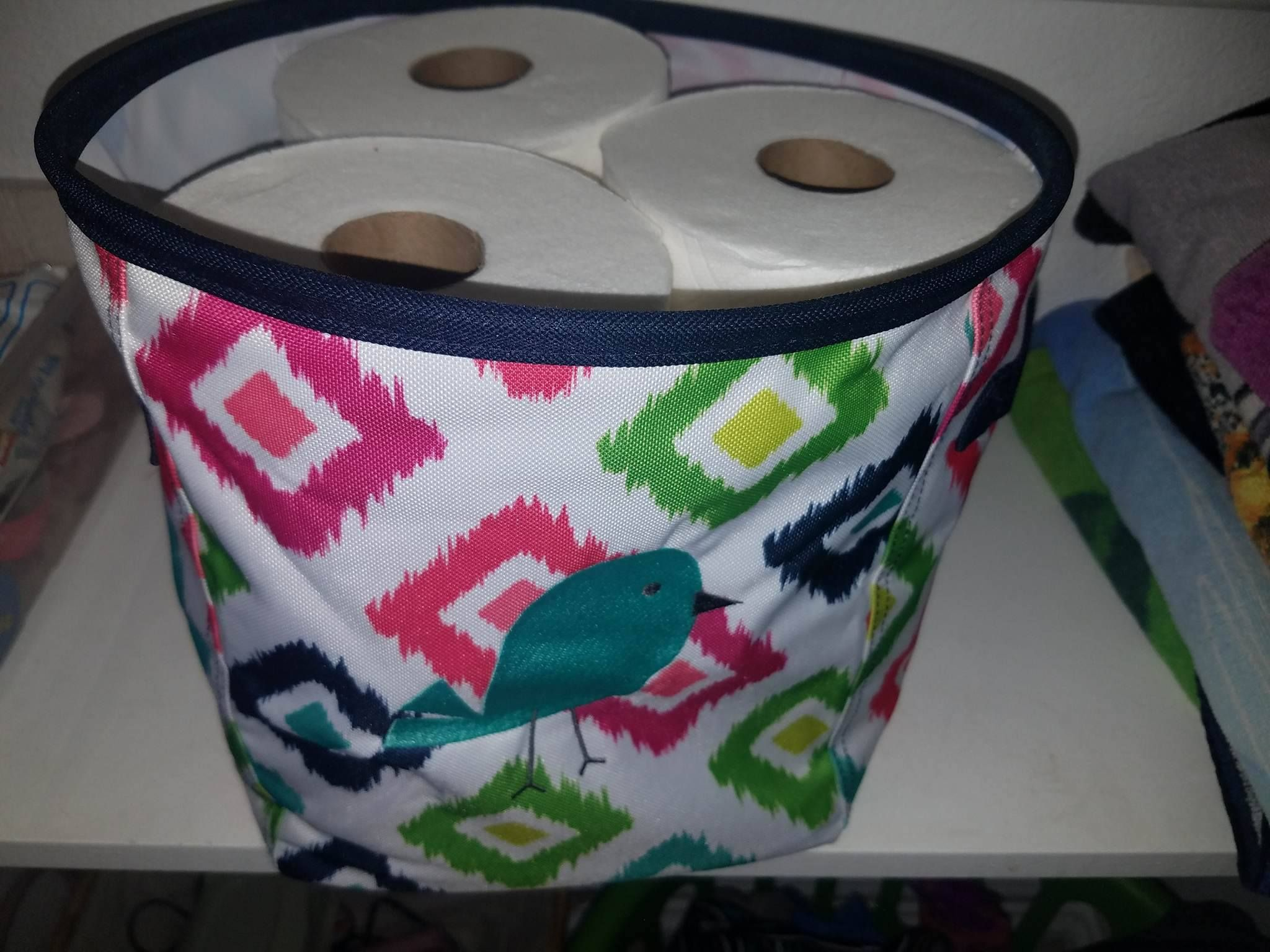 Thirty One Mini Storage Bin New For Spring Summer 2017 Candy Corners Print With A