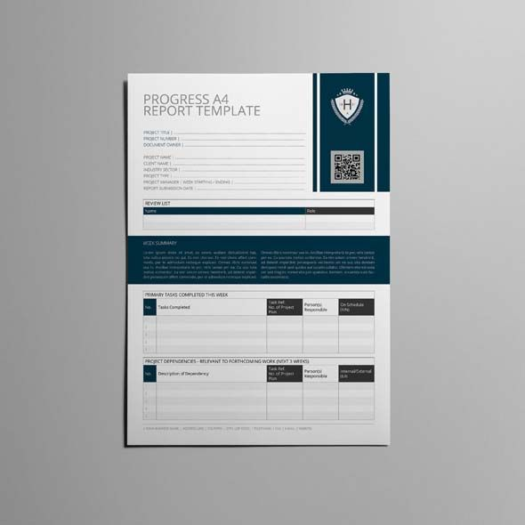 Progress A Report Template  Cmyk  Print Ready  Clean And