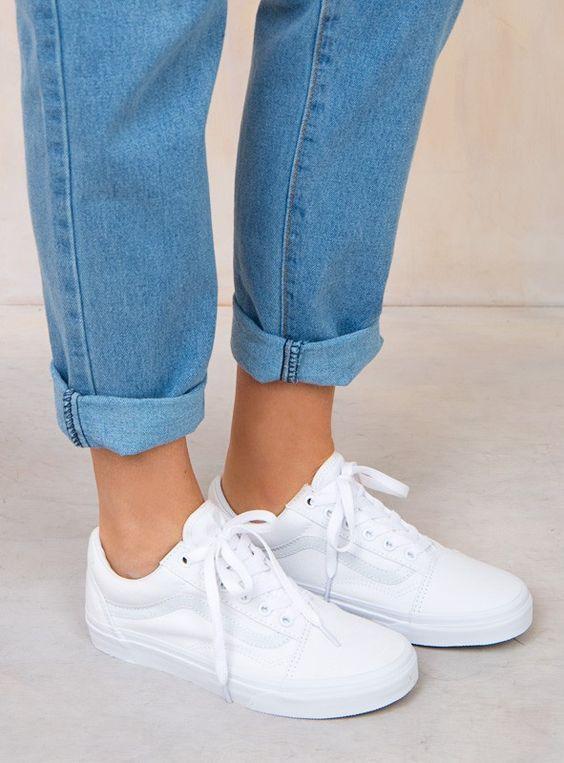 zapatillas mujer vans blancas