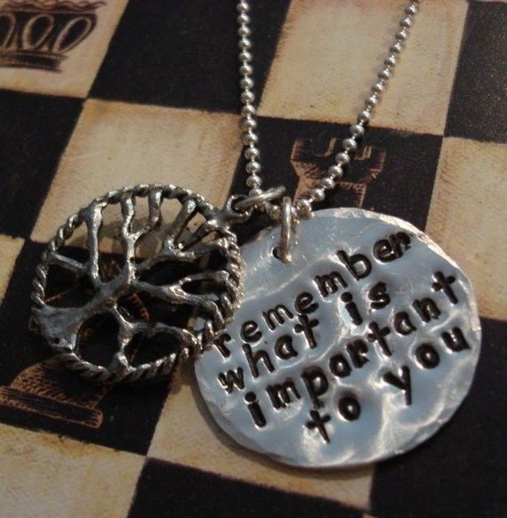 Hand Stamped Jewelry Charms   Hand stamped charm necklaceThe Family Tree by ...   Stamped Jewelry l ...