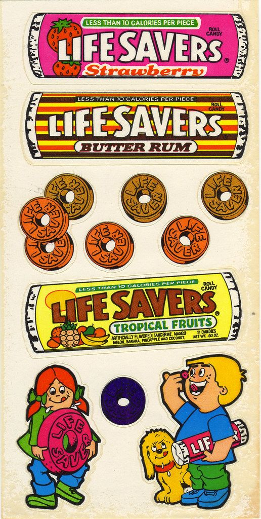 Gordy - LifeSavers Scratch N Sniff Stickers - Other Set - 1983