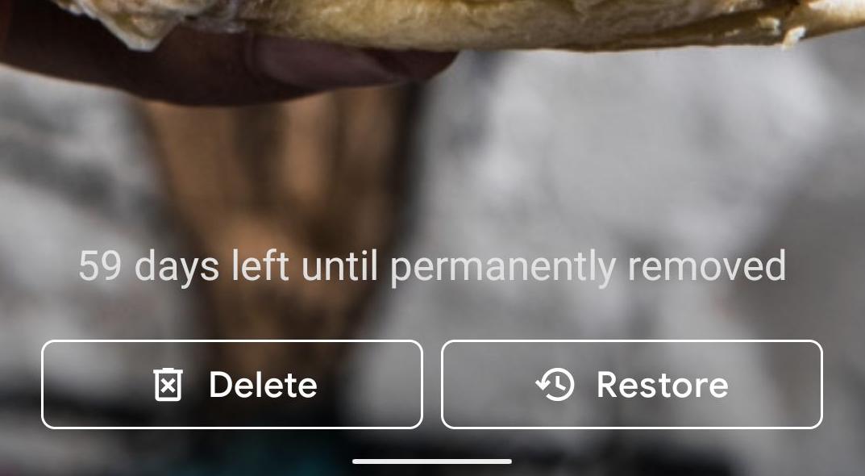 تطبيق صور جوجل يخبرك الآن بموعد حذف كل صورة نهائيا من سلة المهملات