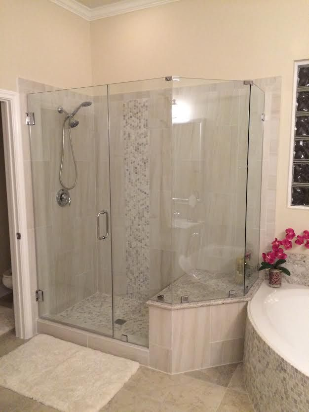 Frameless Shower Glass Completed By Delta Houston Our Customer Is Very Happy With The