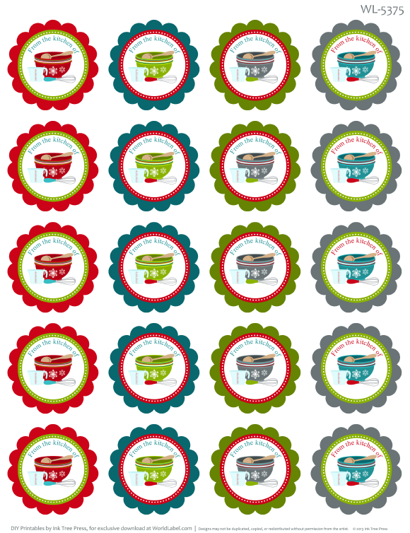 from the kitchen of labels for baking images christmas rh pinterest com Kitchen Labels to Print Out Free Printable Label Templates