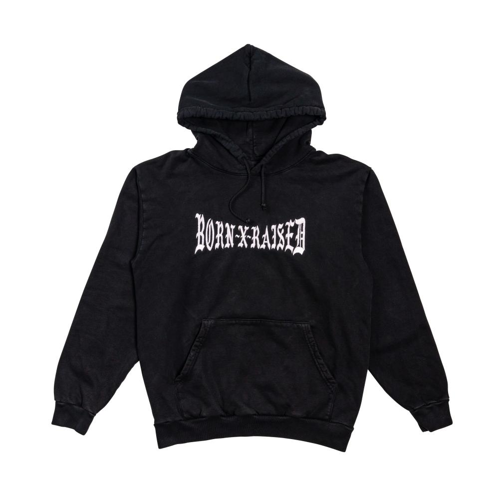 born x raised black hoodie
