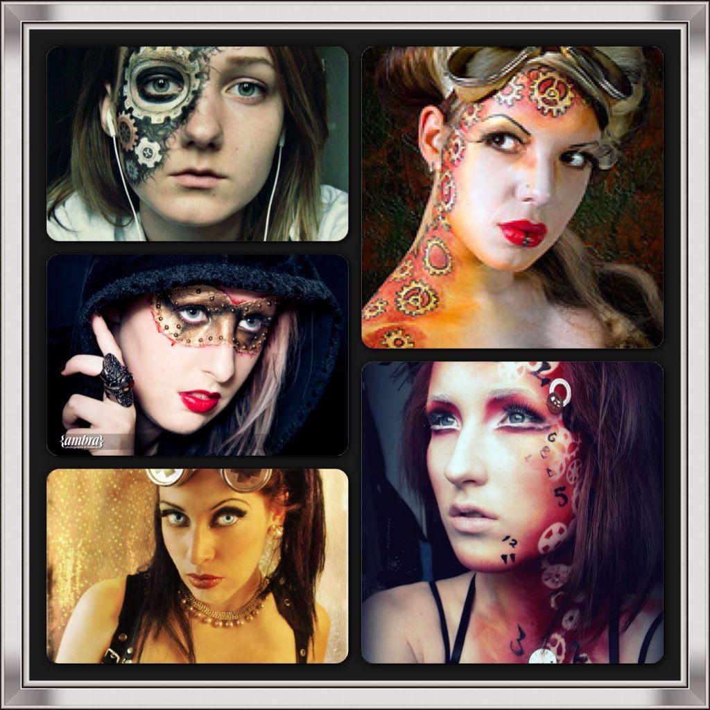 Steampunk Costume makeup, Makeup tattoos, Makeup