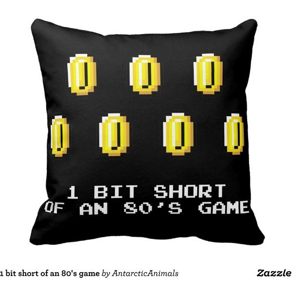 1 bit short of an 80's game throw pillow ($30) ❤ liked on Polyvore featuring home, home decor and throw pillows