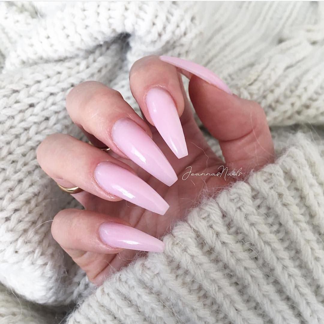 Beautiful Soft Pink Nails