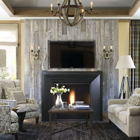 Reclaimed wood fireplace | fireplaces | Pinterest | Reclaimed wood ...