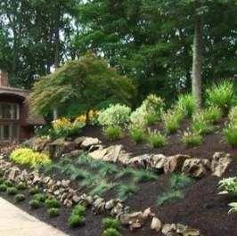 Landscaping Backyard Slope Plants 70 Ideas In 2020 Sloped Backyard Landscaping Sloped Backyard Sloped Garden