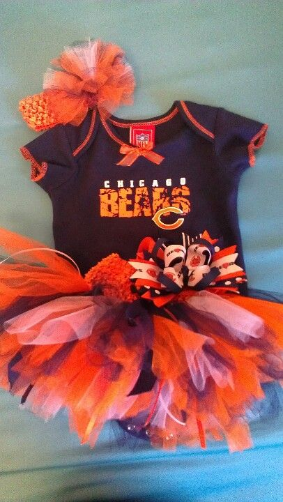 ae87dd55 Da Bears! Baby girl's gameday outfit | Oh baby baby! | Chicago bears ...