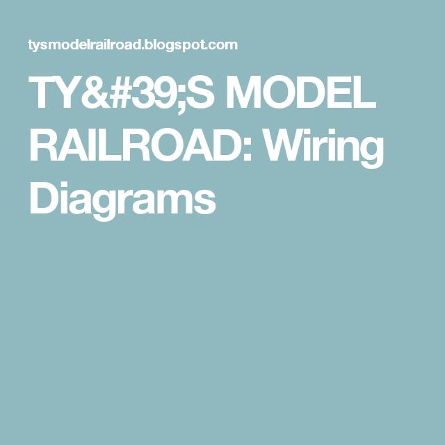 TY\'S MODEL RAILROAD: Wiring Diagrams | Train Electronics ...