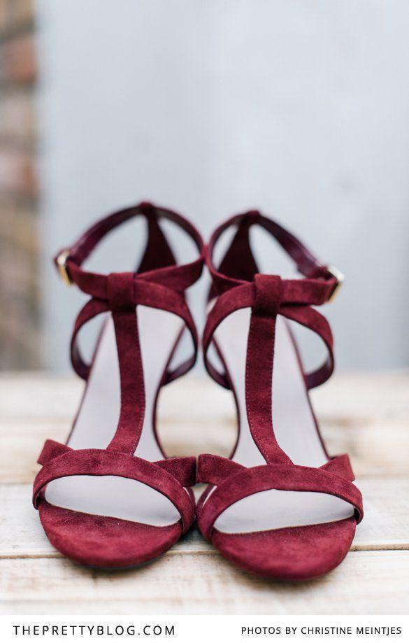 Ruby/Plum Color Shoes | Photographer @Christine Meintjes | Shoes : ZARA