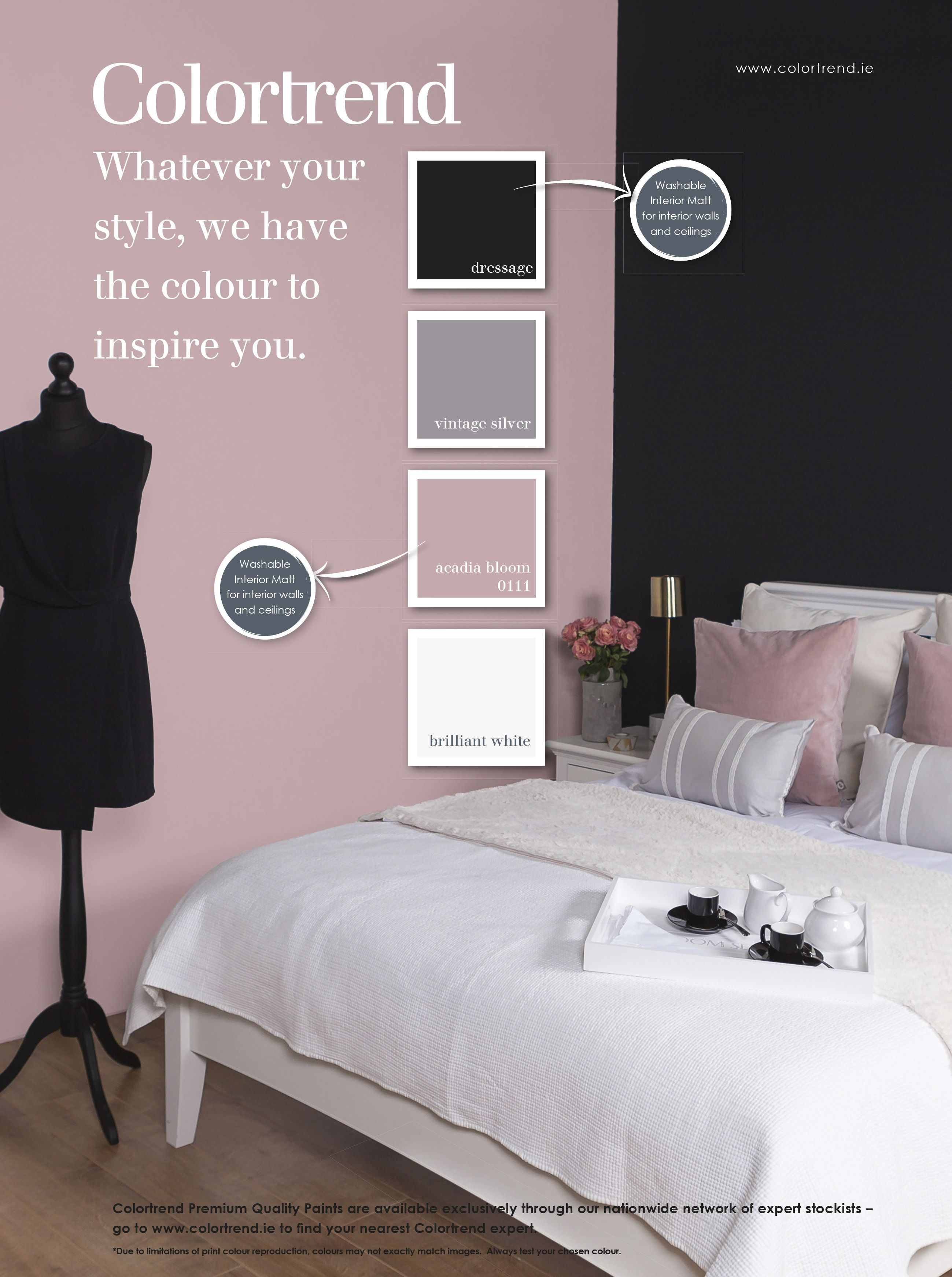 Dusty Pink Bedroom You Could Have A Feature Wall At The Back Of Kids Bed An