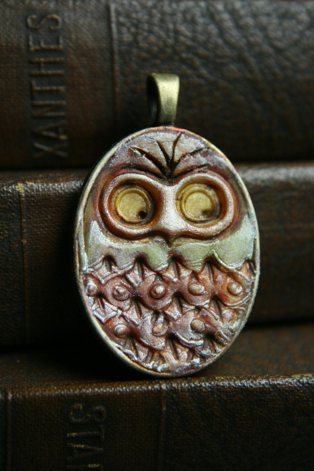 woodsy owl simple truths pendant MADE TO ORDER by TesoriTrovati