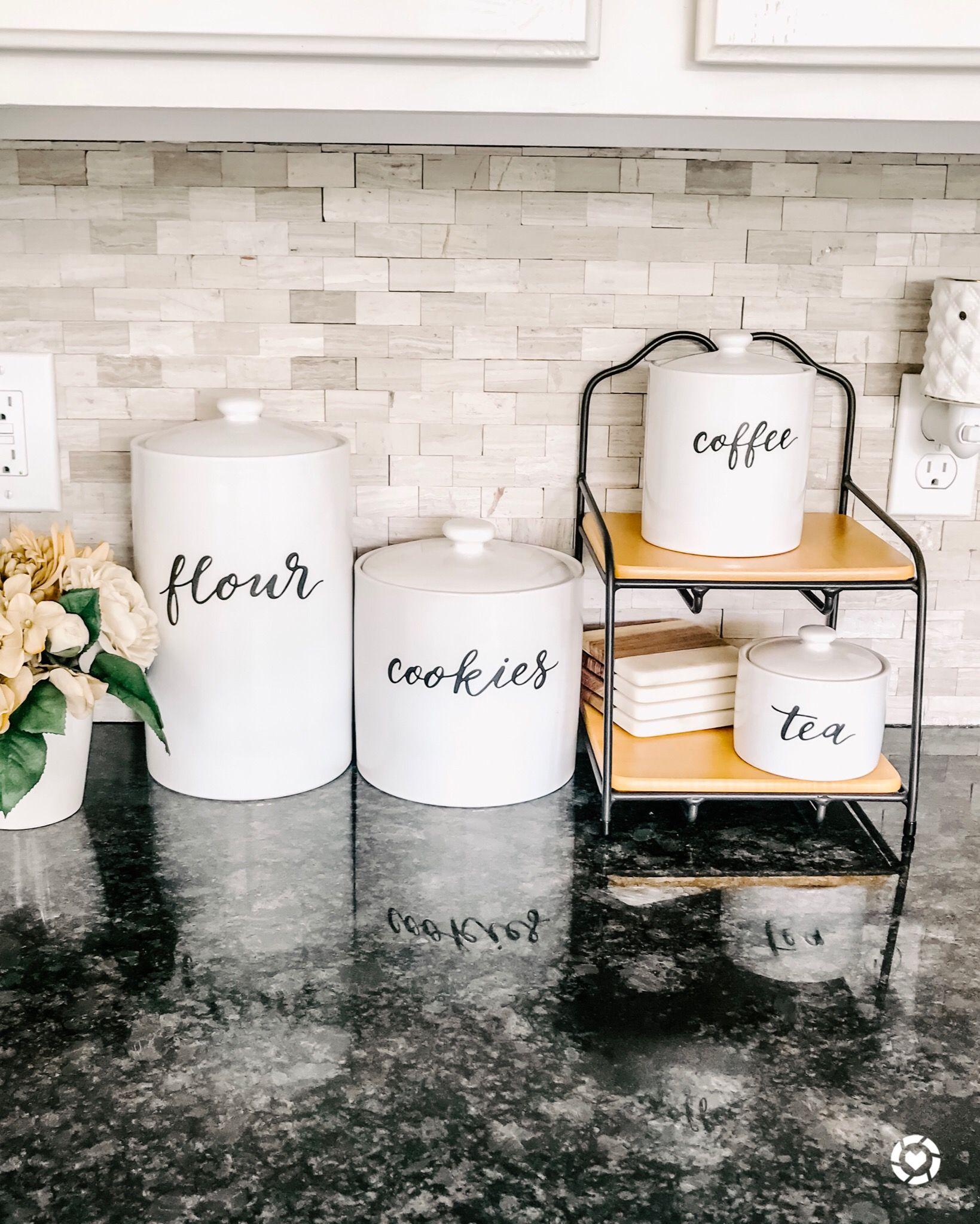 Coffee food storage canister threshold kitchen jars