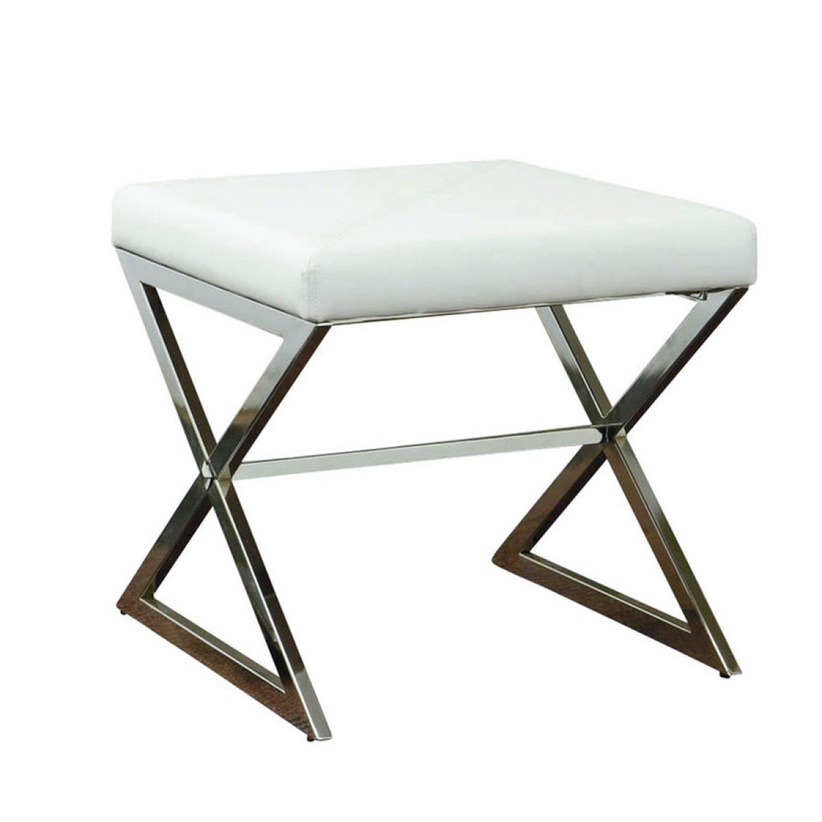 Metal Bedroom Bench Modern White Tufted Vanity Bench With Storage Modern Metals And