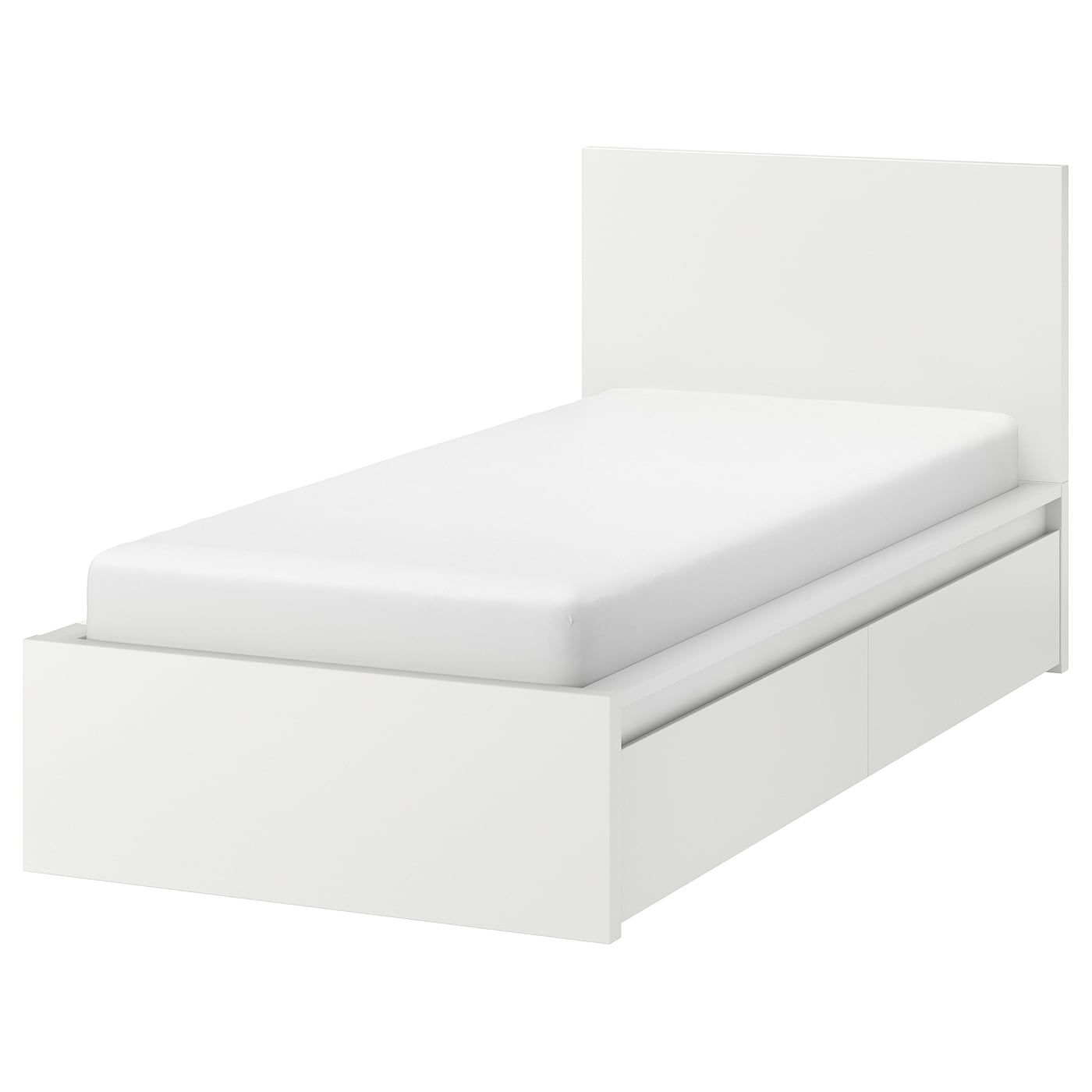 Malm High Bed Frame 2 Storage Boxes White Twin Ikea Bed Frame With Storage High Bed Frame Malm Bed Frame
