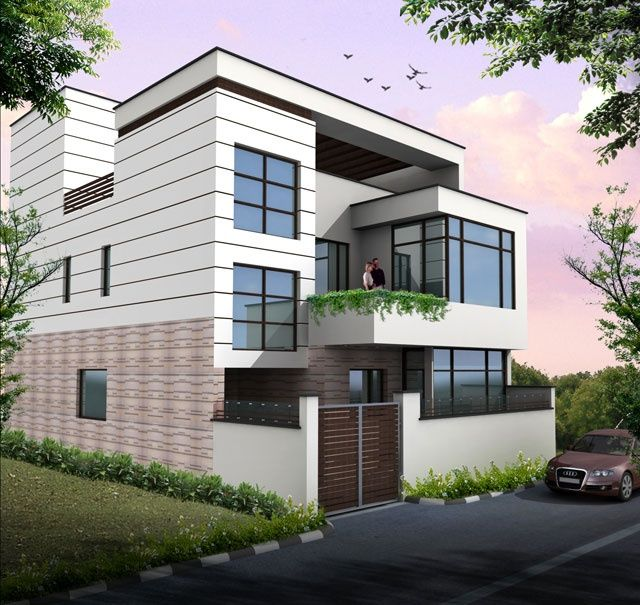 Best Duplex House Plans Front Elevation House Balcony Design 640 x 480