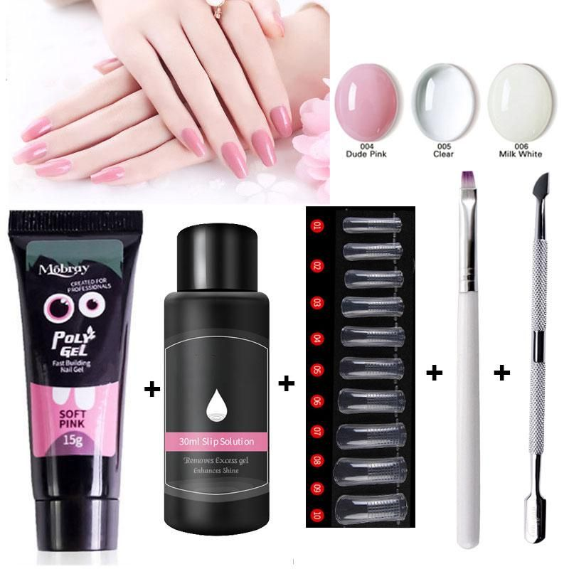 Polygel Kit Nail Gel Polish Acrylic Polygel Crystal Uv Led Builder Gel Tips Enhancement Slip Solution Quic In 2020 Gel Nail Kit Nail Extensions Acrylic Nail Extensions
