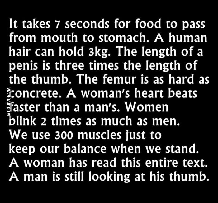 The difference between men and women... - Funny