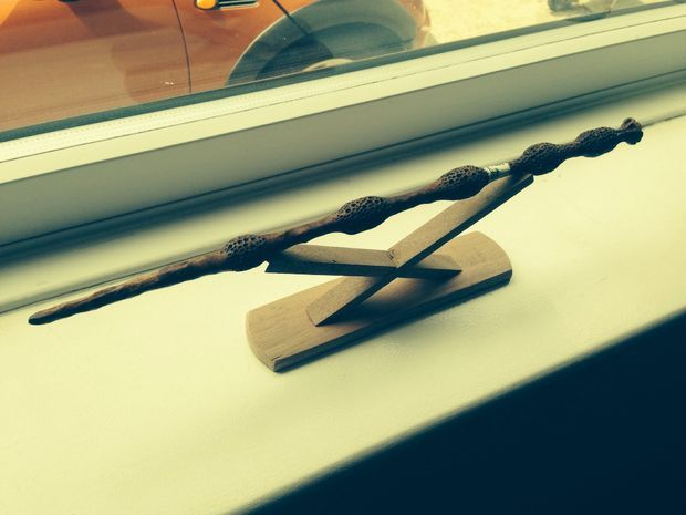 elder wand stand wand woodworking and display