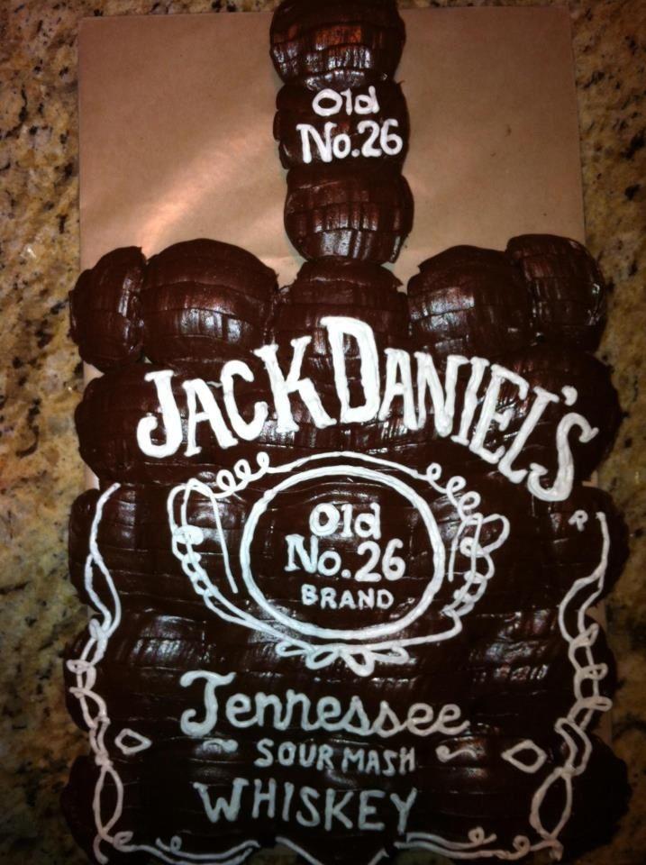 Jack Daniels Cupcake Cake Pull Apart Cupcake Cake Jack Daniels
