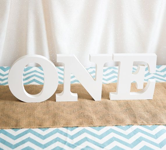 ONE Sign for First Birthday Decor Freestanding Letter 1st Birthday One Sign Party Decor for Baby Toddler Birthday ONE photo prop number one