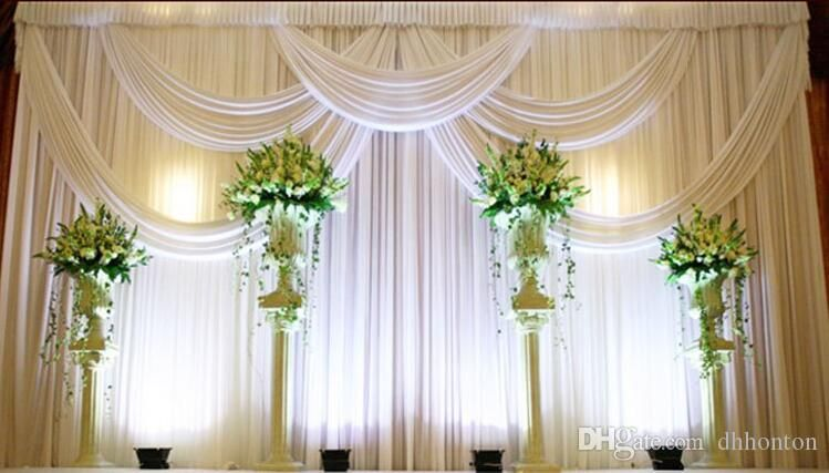 9*9m Wedding Party Stage Celebration Background Satin Curtain