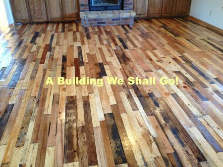 Diy Pallet Floor A Thrifty Repurposed Pallets To A Beautiful