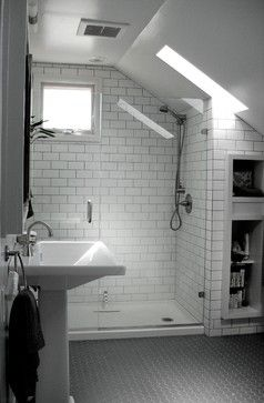 Use A Pre Made Shower Floor And Subway Tile To Keep Cost Down. Put
