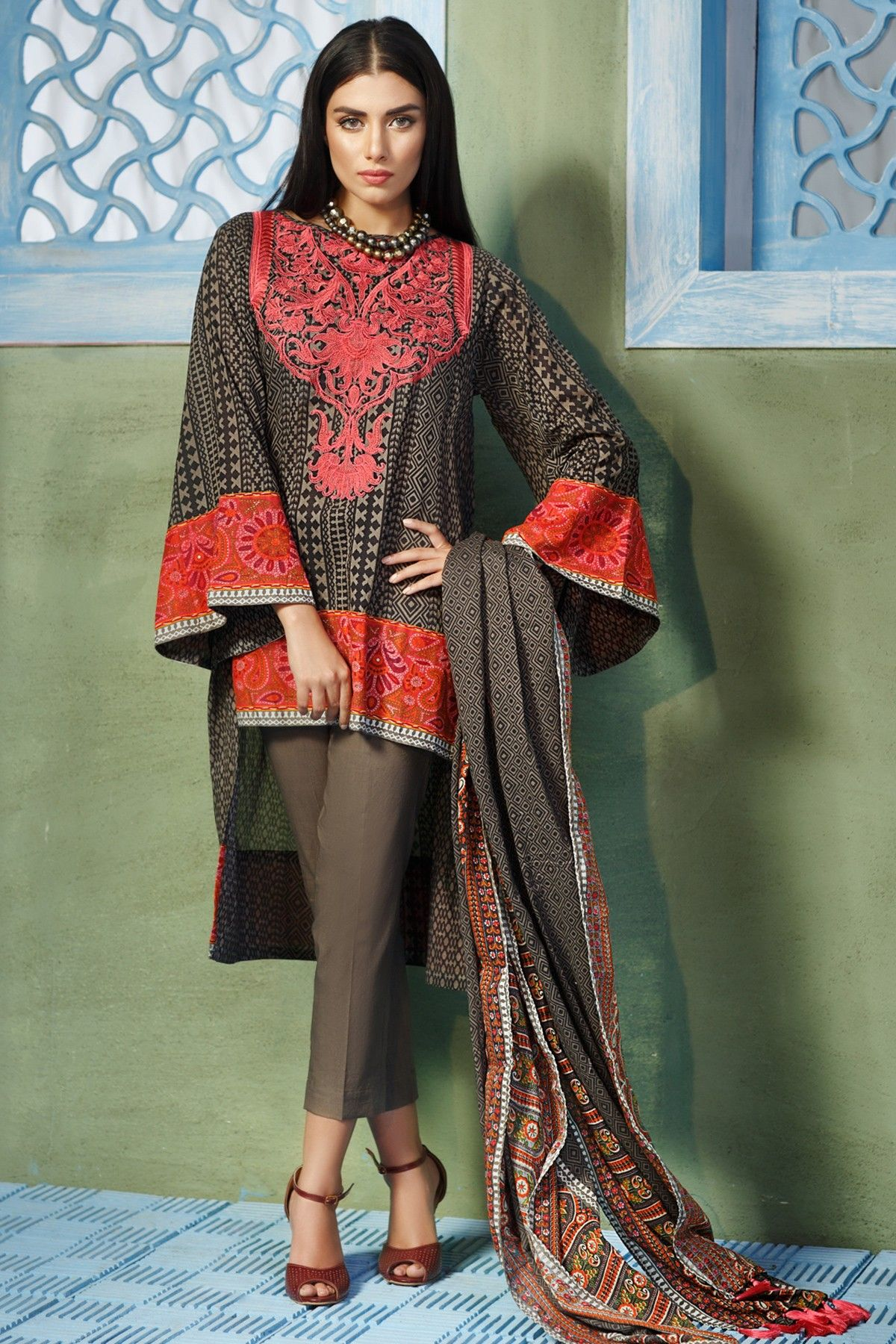 khaadi lawn chiffon eid dresses designs collection 2019